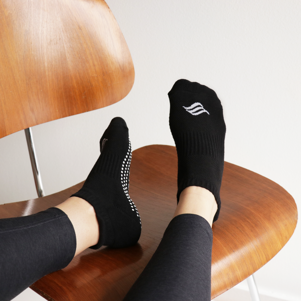 The Active Sock (Black)   4 Pack - $24.99