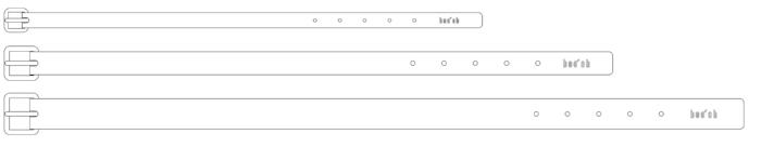 "SMALL   TOTAL LENGTH: 15""(380mm) x TOTAL WIDTH: 0.9""(20mm)   MEDIUM   TOTAL LENGTH: 18.8""""(480mm) x TOTAL WIDTH: 1""(25mm)   LARGE   TOTAL LENGTH: 22.8""""(580mm) x TOTAL WIDTH: 1.3""(33mm)"
