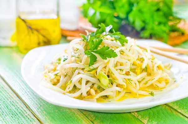 Delightful bean sprouts