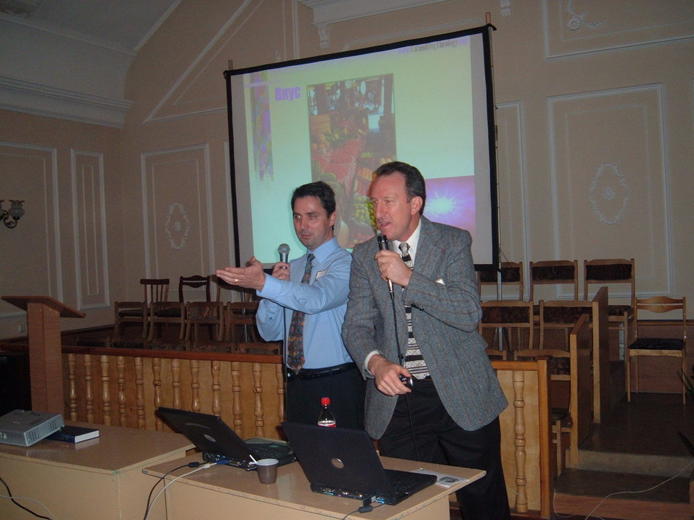 Phil with translator, Russia
