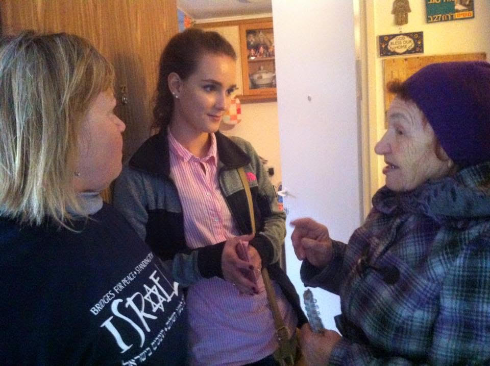Daria with Holocaust Survivor