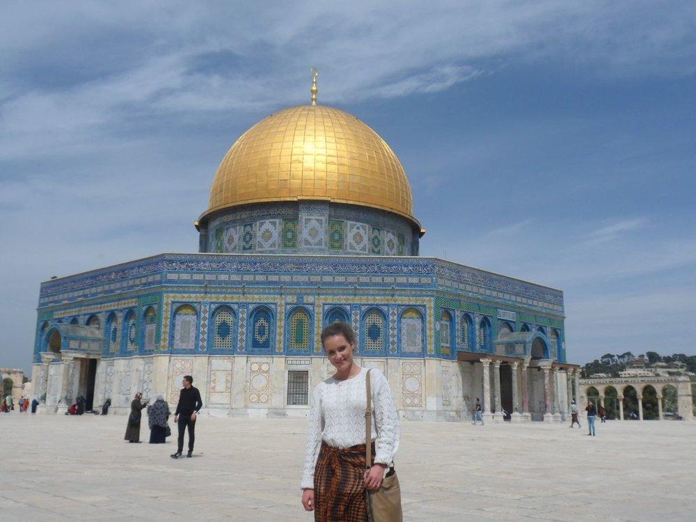 Daria on Temple Mount