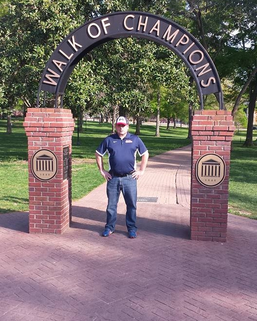 Randy on Ole Miss' campus ahead of the Peachtree