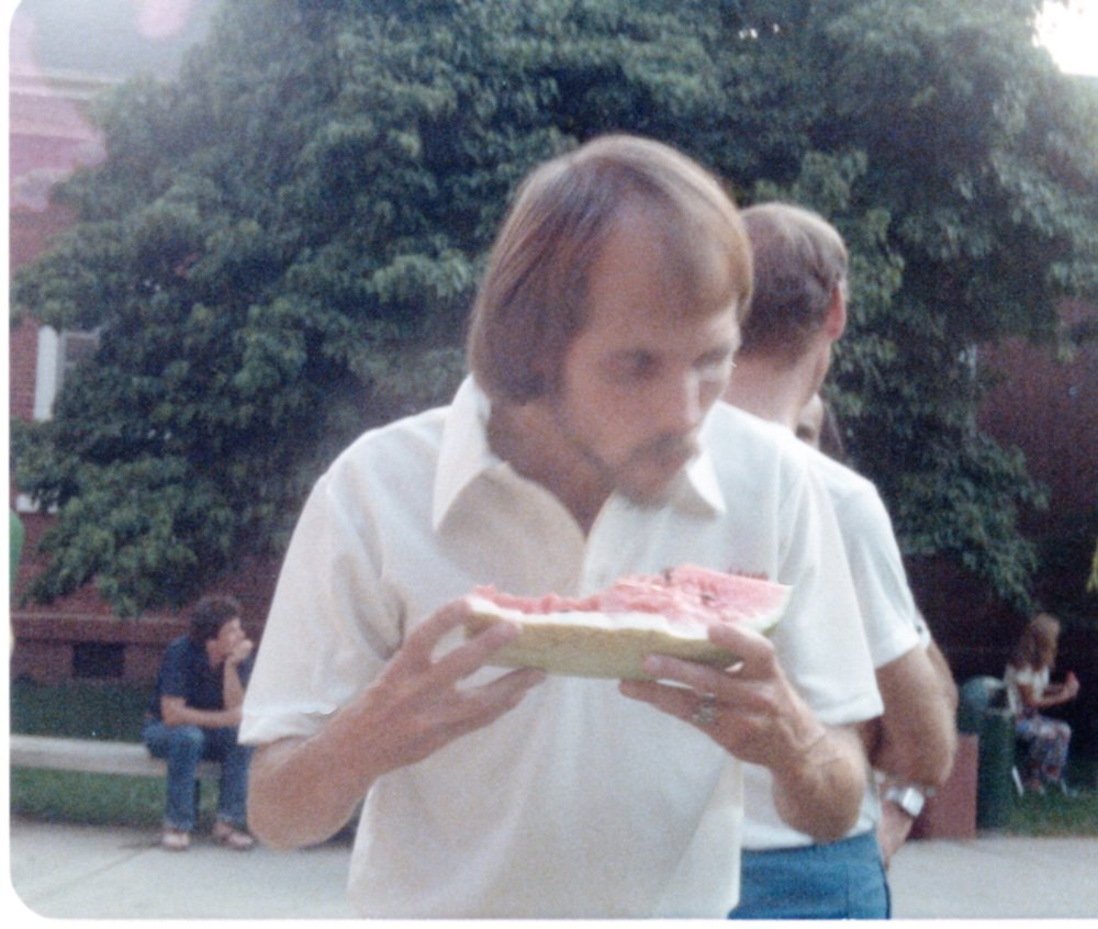 The post-race watermelon seed spitting contest was a legendary Peachtree tradition and Jeff Galloway was hard to beat!
