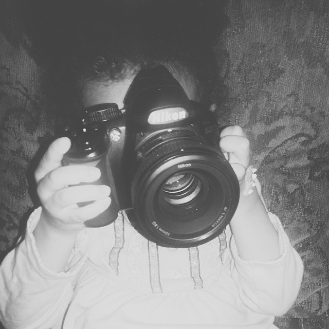The Lovely Photog's Daughter with DSLR