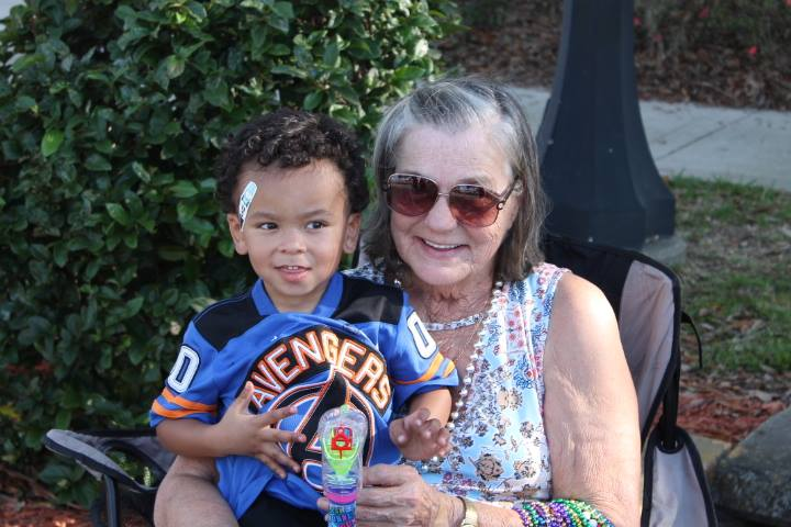 Edna with her great grandson Mekale