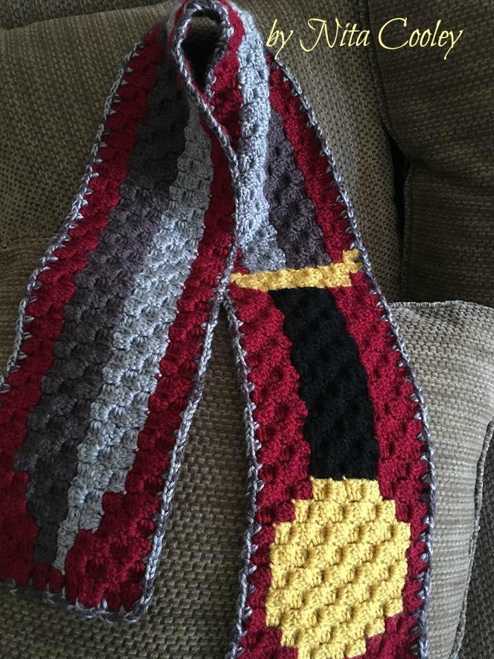Sword Scarf, C2C Crochet Pattern