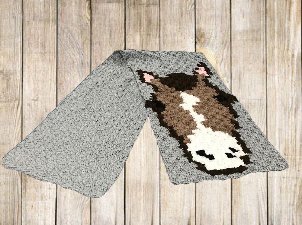 Horse Scarf C2c Crochet Pattern