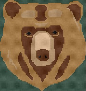Bear Head Afghan C2C Crochet Pattern