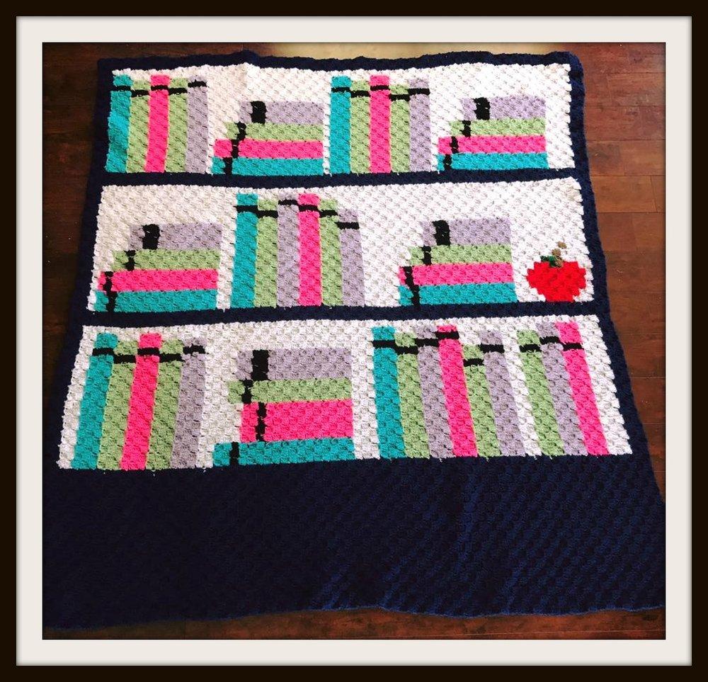 Bookcase Afghan 3 C2c Crochet Pattern