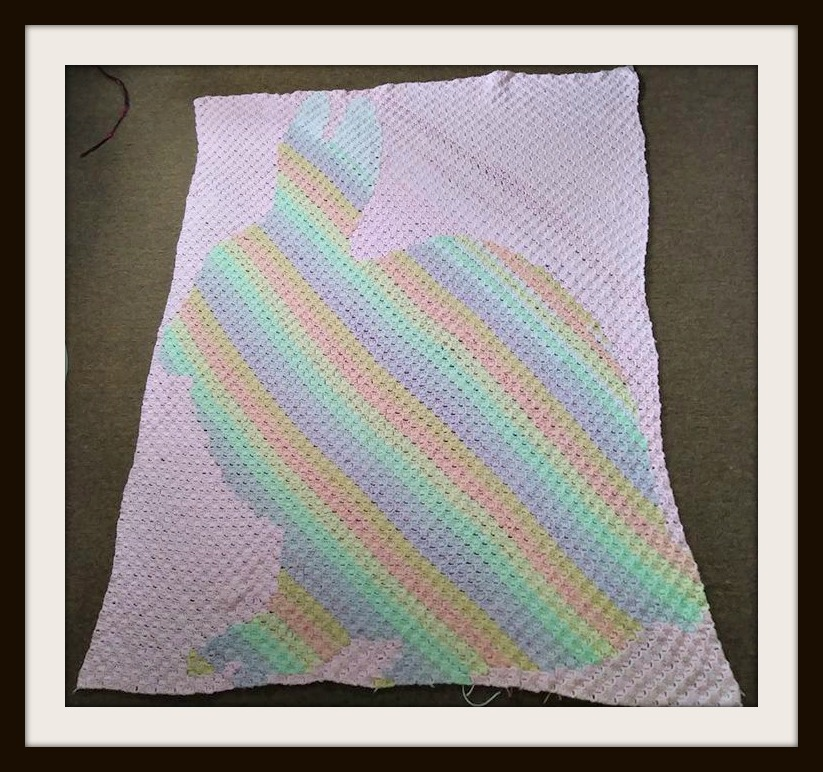 Bunny Stripe Silhouette Afghan C2c Crochet Pattern
