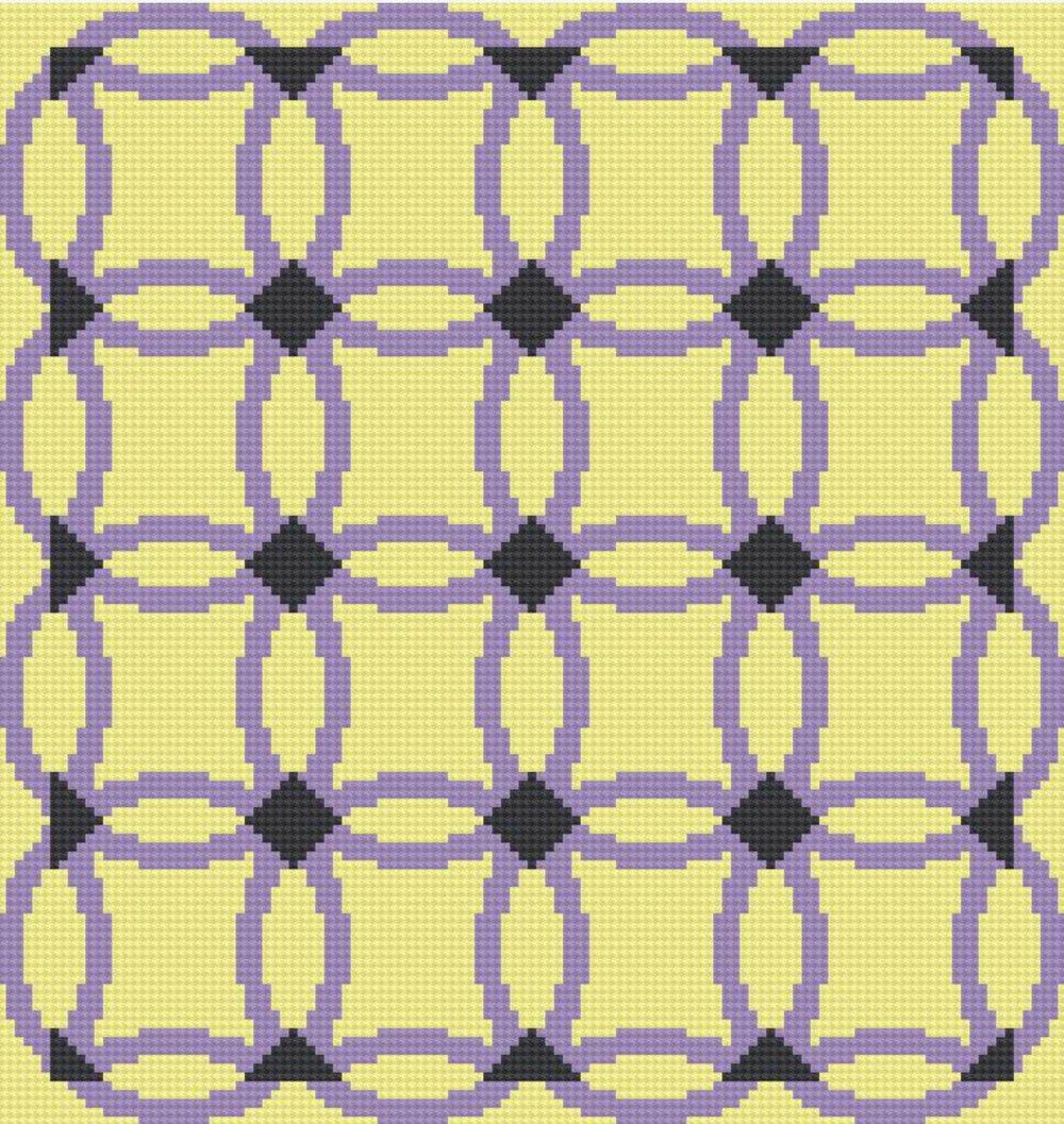 Wedding Ring Quilt Afghan Queen Size C2c Crochet Pattern