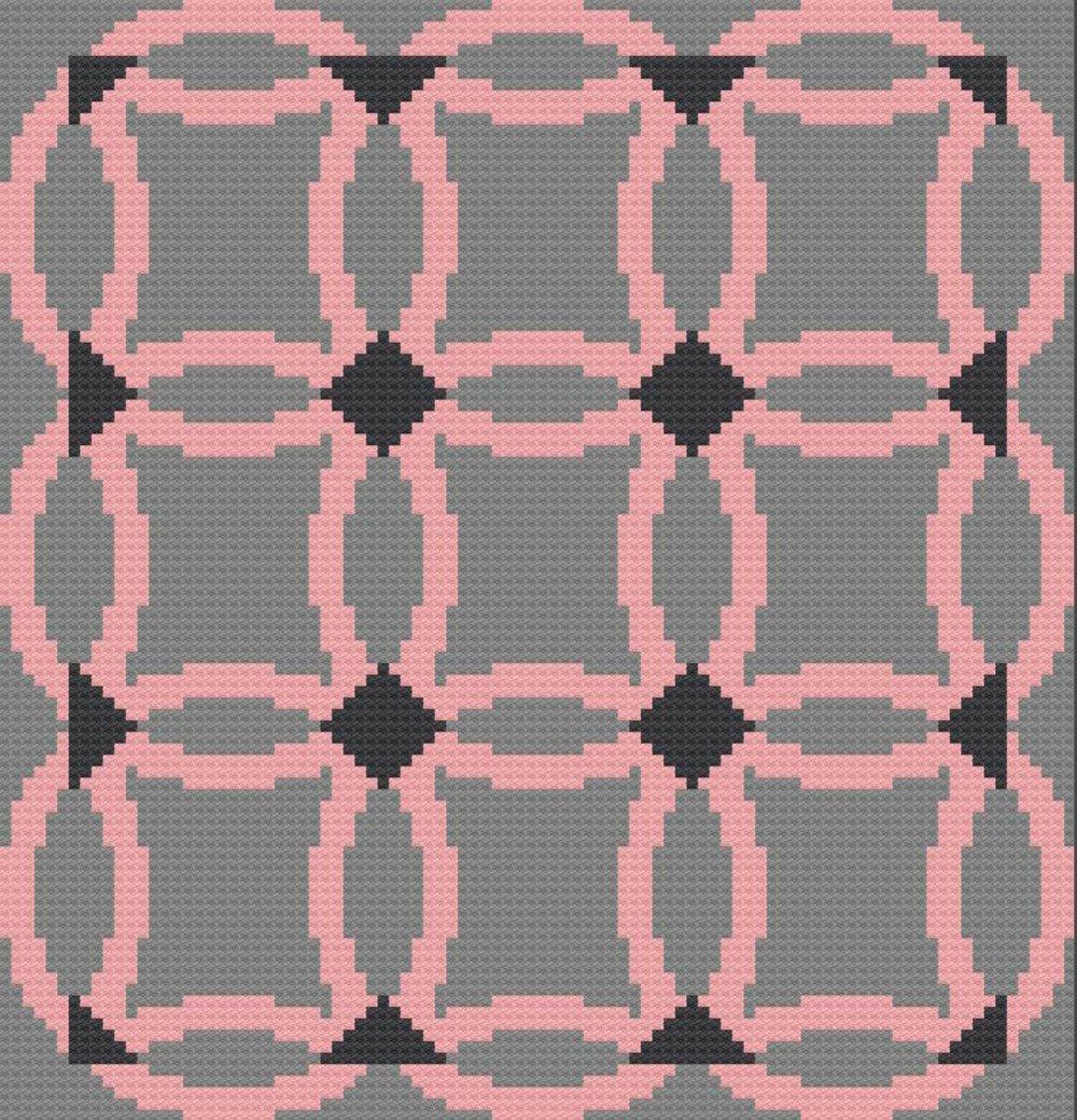 Wedding Ring Quilt Afghan C2c Crochet Pattern