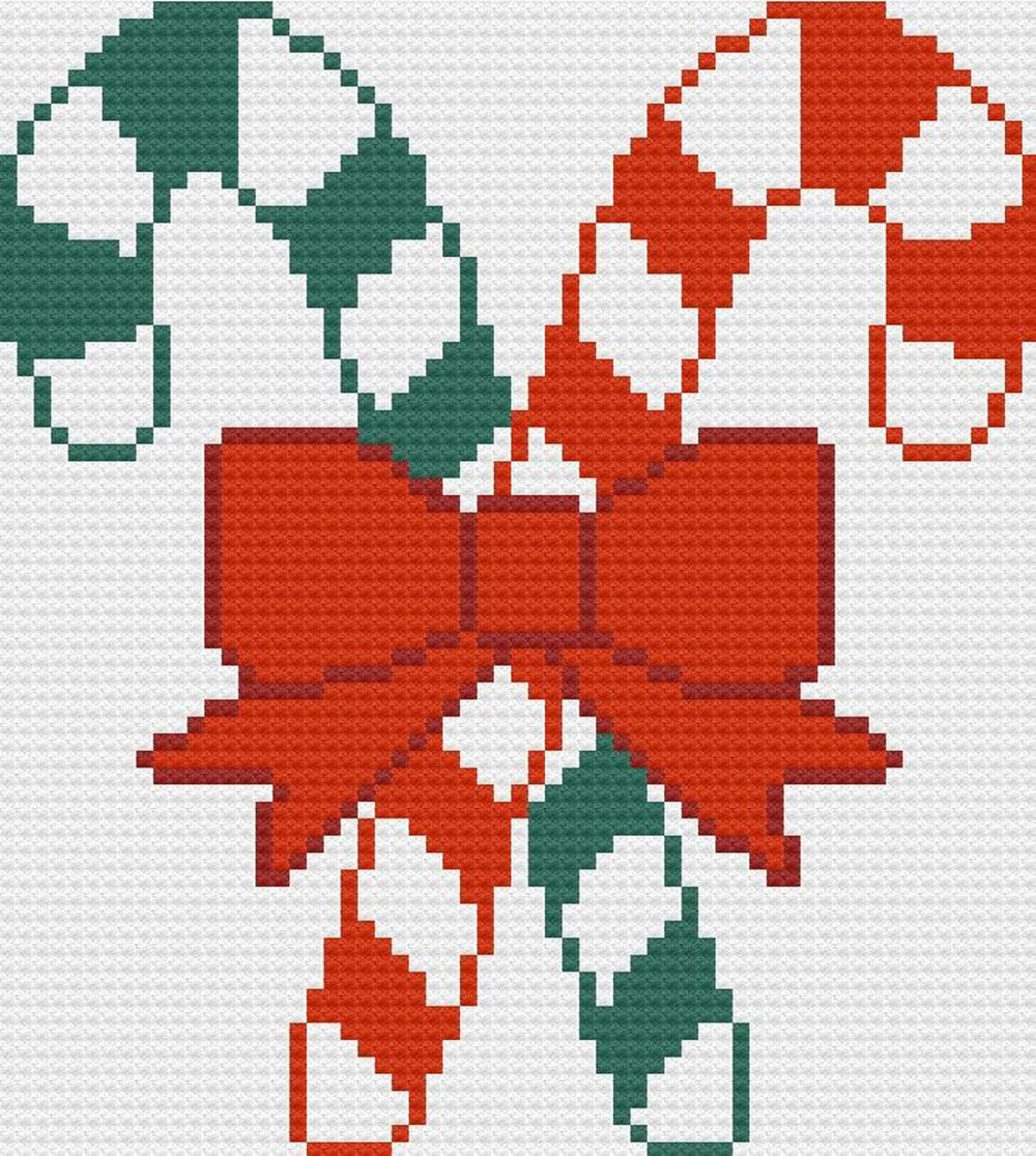 Candy Cane Afghan C2c Crochet Pattern