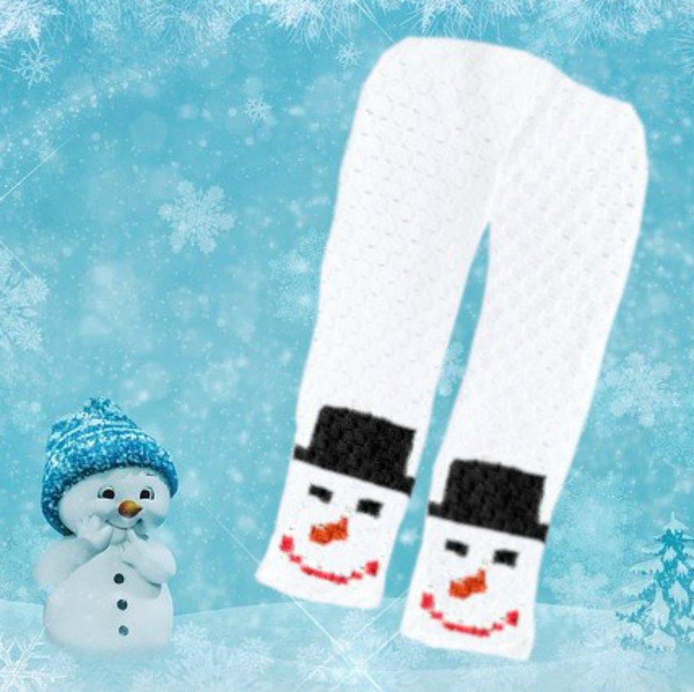 Snowman Scarf C2c Crochet Pattern
