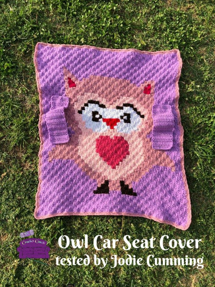 Owl Baby Car Seat Cover C2c Crochet Pattern