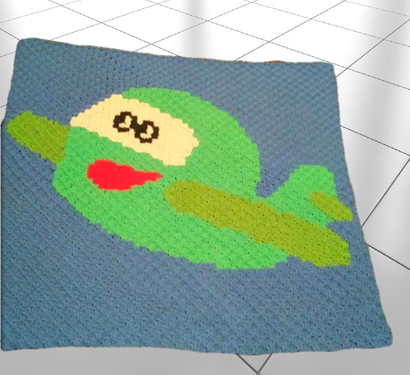 Airplane Kids Afghan C2c Crochet Pattern
