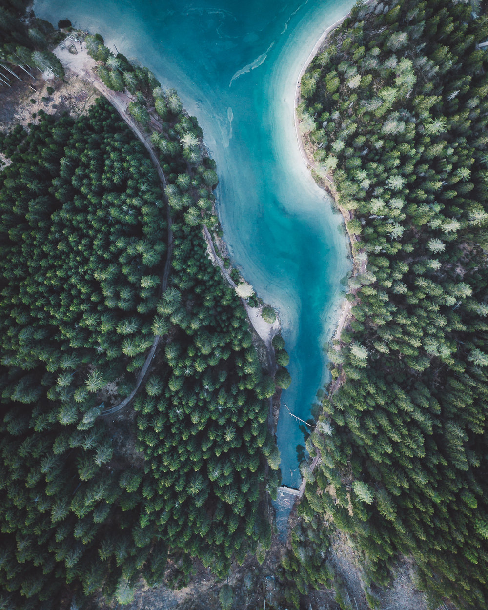 Lago di Braies from above
