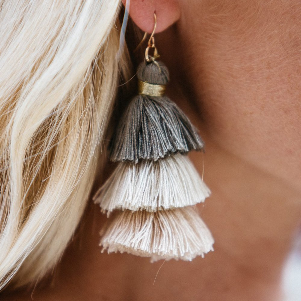 5. Fringe Earrings - It's the season of fun, so dive right in. Boho has been the go-to spring look for multiple seasons. Add some flair this year by touting bold fringe earrings.
