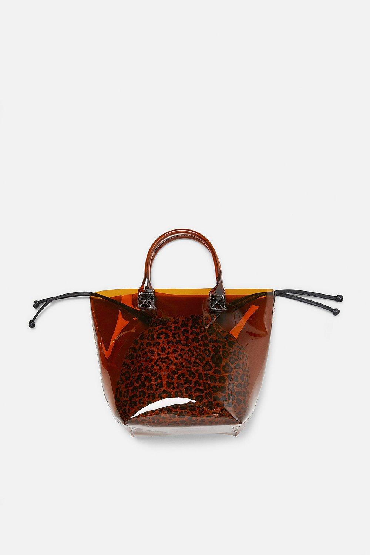 ZARA - Clear Mini Bag, $35.90.