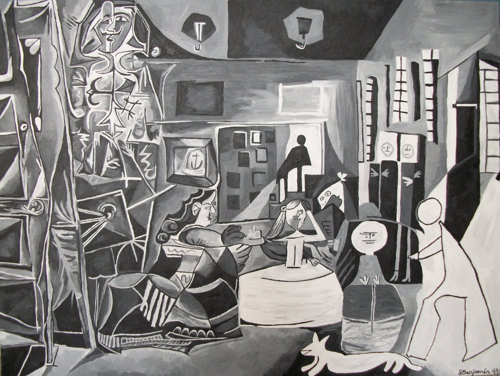 Picasso replica, acrylic on canvas