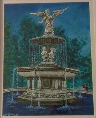 Besthesda Fountain, acrylic on canvas