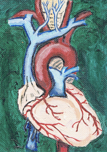 Heart, acrylic on canvas