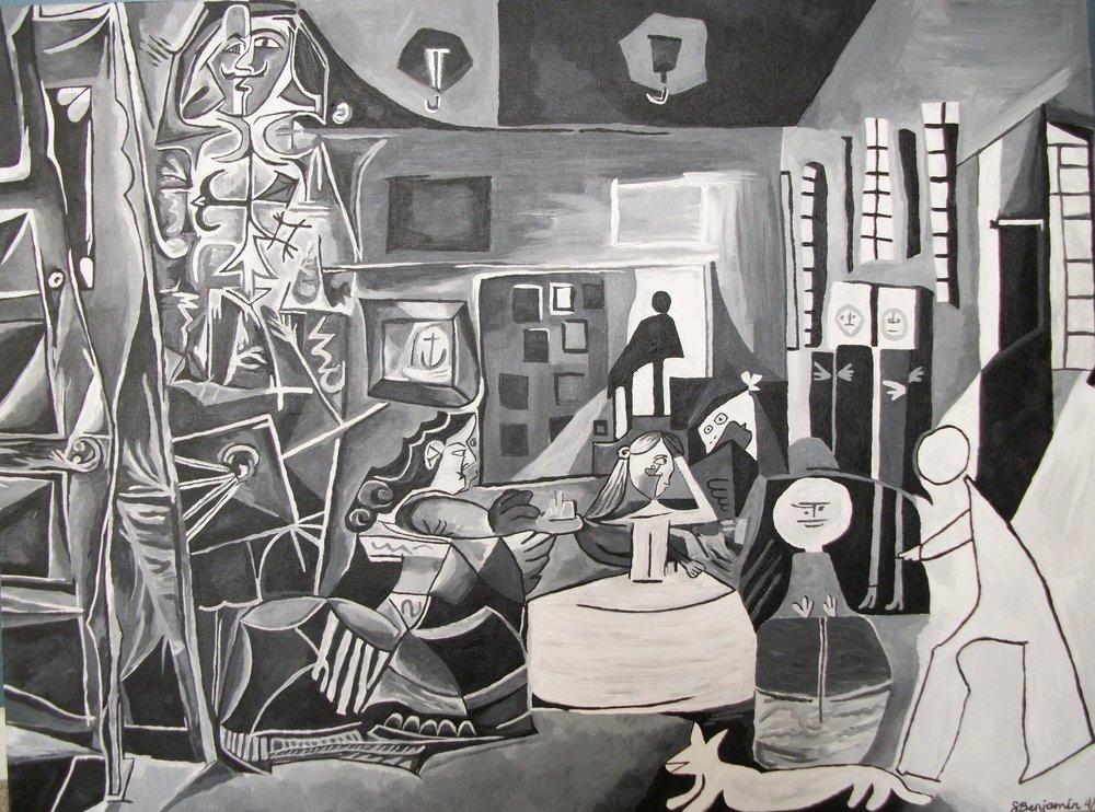 Las Meninas Replica, Acrylic on Canvas