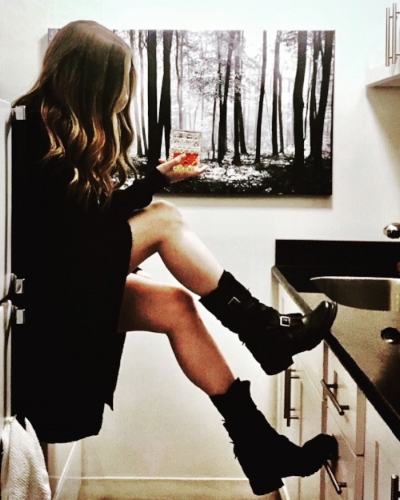 This is the only way to have a seat in my tiny kitchen.