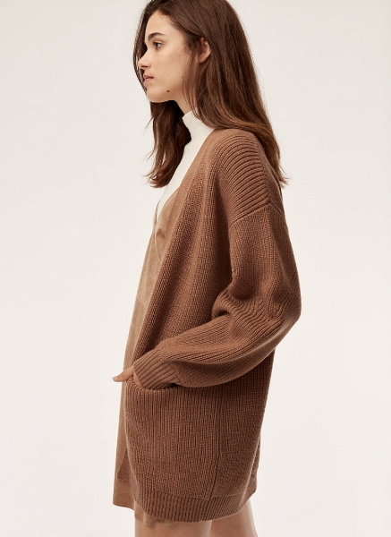 Wilfred Free Rourke Sweater @ Aritzia     I actually own this sweater in black and can tell you from experience that it's worth the price tag. The fabric is amazing and high-quality, and it's basically the perfect slouchy sweater that will stick with you for years.