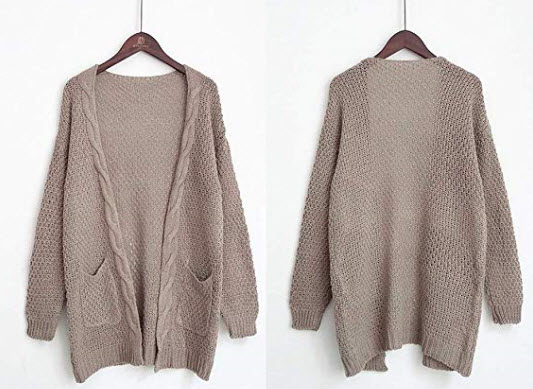 HZONNE Women's Boho Chunky Warm Cardigan @ Amazon     Not down for a steep price tag? Here's a budget-friendly chunky sweater from Amazon that looks comparable to the Aritzia one above. The knit may not be as nice, but it looks super cute.