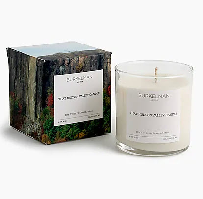 Burkelman hudson valley candle woodsy scent