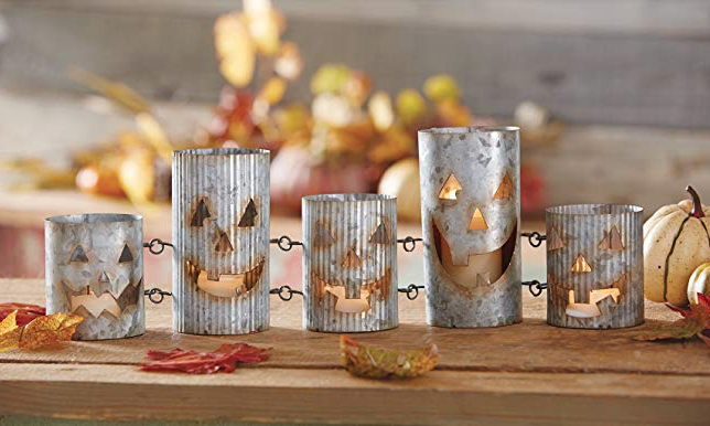Rustic Halloween Tin Jack-O-Lantern Votive Set.png