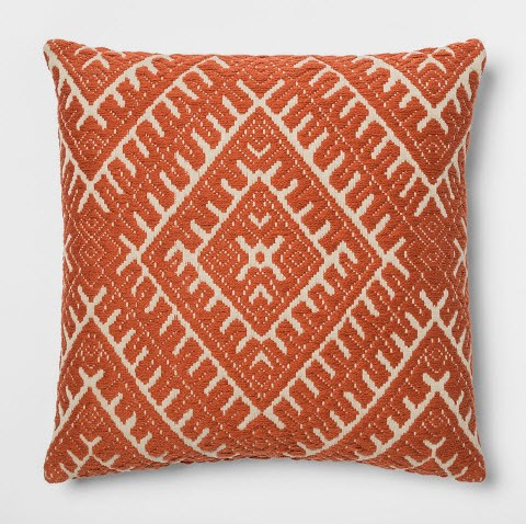 Woven Global Square Throw Pillow Orange.jpg