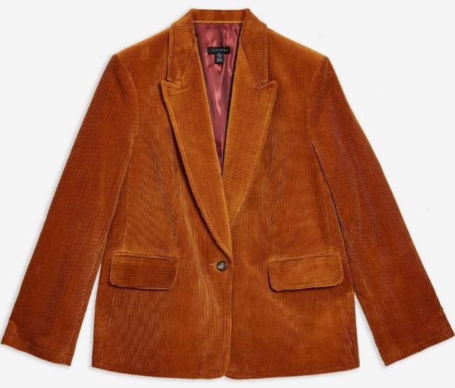 topshop brown Corduroy Blazer.jpg