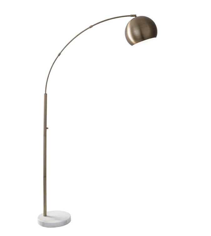 """Brass Dacia 78"""" Arched Floor Lamp.png"""