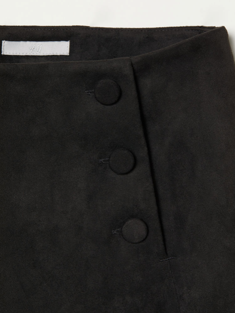 black faux suede skirt.png