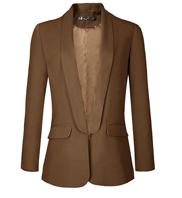 Women's Office Blazer Jacket Open Front.png