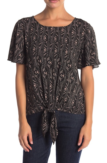 patterned tie front woven top.png