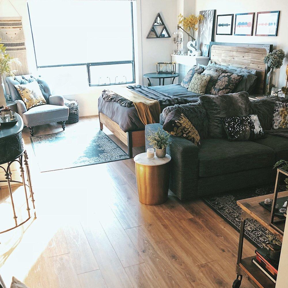 studio apartment interior styling