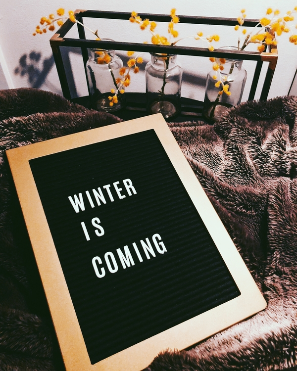 Letter board decor with a good old Game of Thrones quote.
