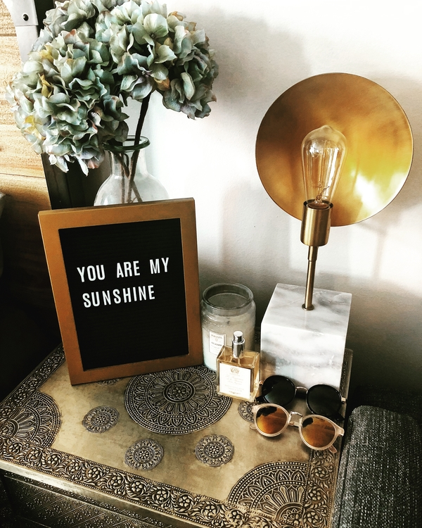 You Are My Sunshine letter board decor idea.