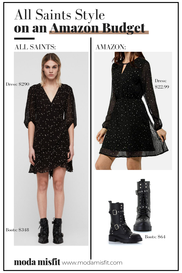 4ec0015892 All Saints dress (now sold out)    All Saints boots Amazon dress
