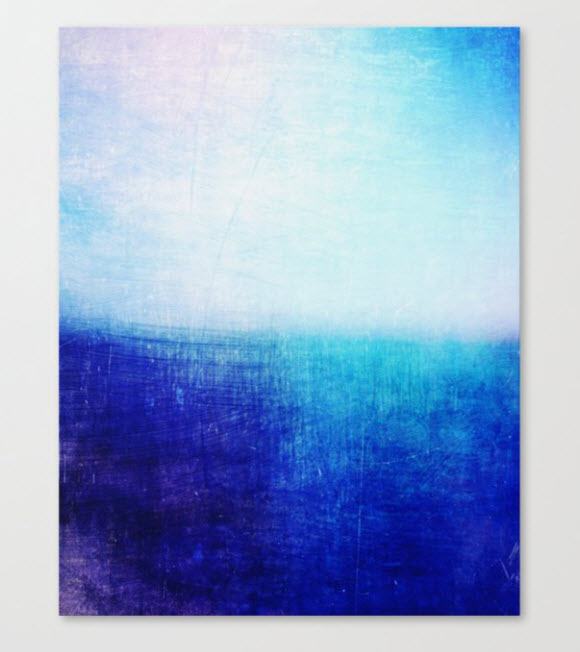 Society6 - Blue Abstract Canvas Print