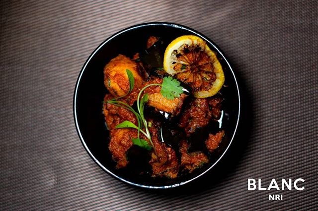 🥔 Our delightful Aloo Ravaiya. Expect only the best at Blanc. 🍽 #blancnri #openingsoon