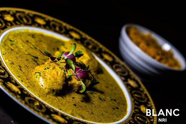 Blanc NRI. Where food speaks with your palate. 🥘 #blancnri #openingsoon