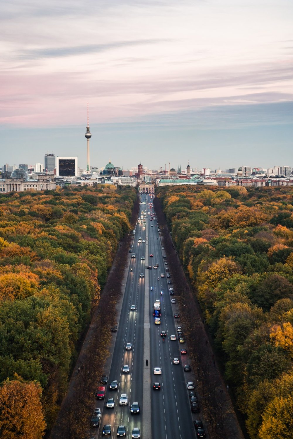 View of Berlin from the Top of Victory Tower