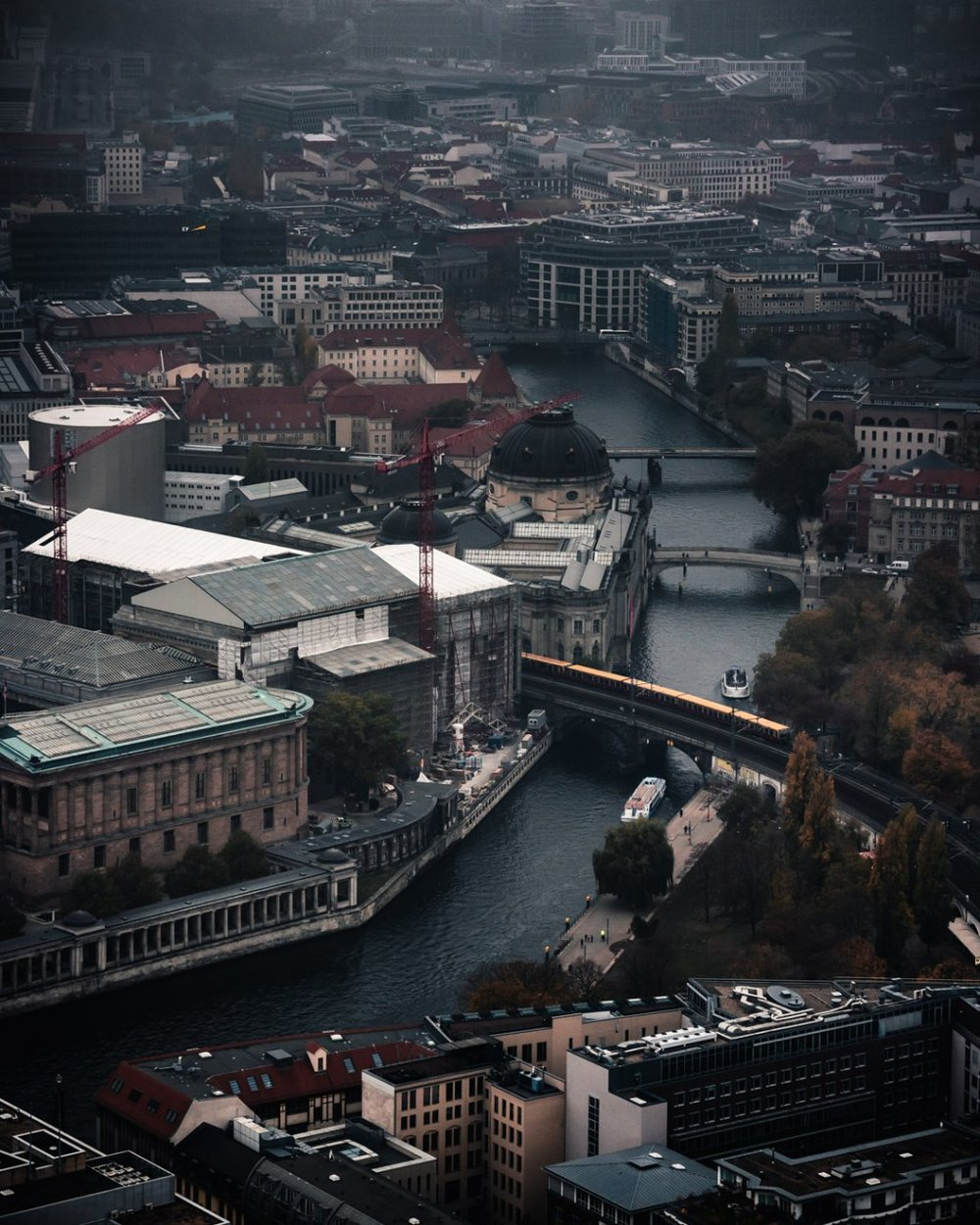 View of Berlin & Spree River from Top of TV Tower