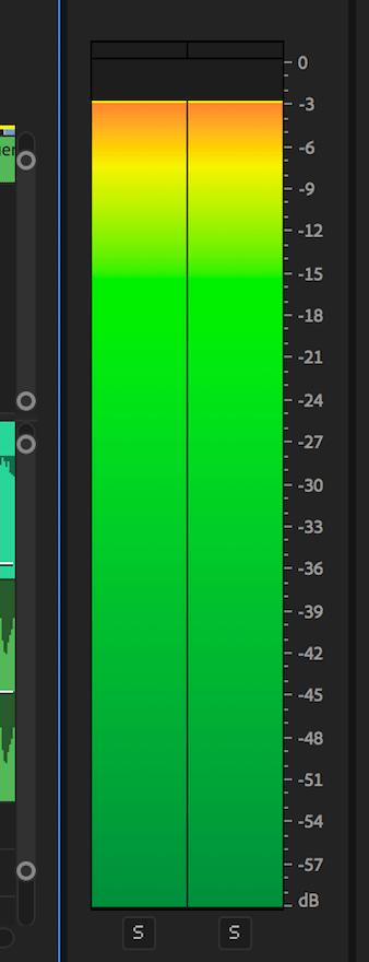 adobe premier sound levels