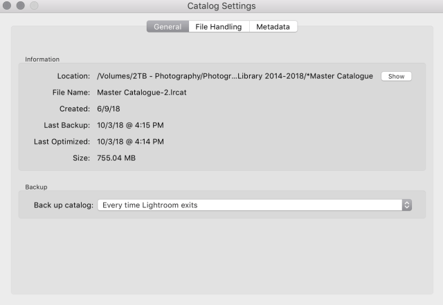 lightroom photo management